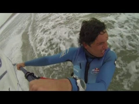 AMAZING VIDEO: Extreme windsurfers battle wind and 20ft waves