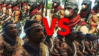 getlinkyoutube.com-Far Cry 3 - Rakyat VS Pirates RPG Only - AI Battle