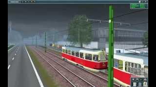"getlinkyoutube.com-Trainz 2009 трамвайная локация (карта) ""Шахты"""