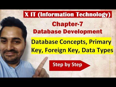 Class X | IT | # 5 | CBSE Board | Ch-7 Database Development Basic