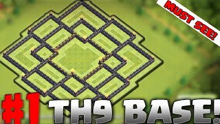 getlinkyoutube.com-Clash of Clans - TH9 BEST BASE! TROPHY BASE.. TOWNHALL 9