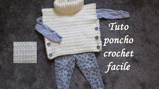 getlinkyoutube.com-TUTO PONCHO AU CROCHET POINT ETOILE TOUTES TAILLES all sizes poncho knitted crochet
