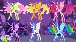 getlinkyoutube.com-My Little Pony Mane 6 Transforms Into Nightmare Moon Alicorn Surprise Egg and Toy Collector SETC