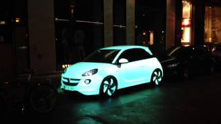 getlinkyoutube.com-Illuminated Opel car in Copenhagen