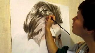 getlinkyoutube.com-Kris (EXO-M) Speed painting