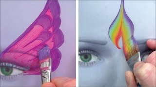 Utiliser 5 pinceaux de maquillage essentiels - Comment Maquiller Les Enfants 4ème PARTIE
