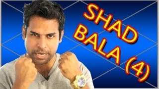 Shad Bala in Vedic Astrology part 4-6 (6 fold strenght) (bhav bal) (house strenght)