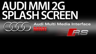 How to change welcome screen to RS in Audi MMI 2G (A4 A5 A6 A8 Q7) boot logo splashscreen