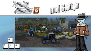 Farming Simulator 15 Mod Spotlight - Mowing and Chaffing