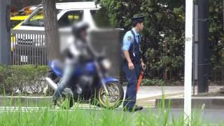 getlinkyoutube.com-警察官の目の前なのにバイクが違反した瞬間!