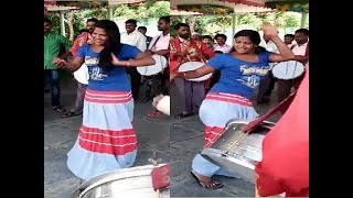 Village Recording dance | girl dance performance for drums music