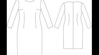 getlinkyoutube.com-تطبيق فستان عملى مع تصريف بنسه الصدر تحت الإبط