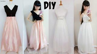 getlinkyoutube.com-DIY Easy Wedding Dress & Prom Dress from Scratch (Floor Length)| DIY Formal Dress