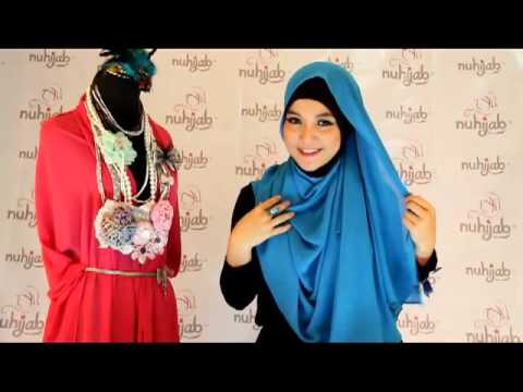 Tutorial Hijab PS2 (Plain Shawl Sifon) - Cyan ala Nuhijab #1
