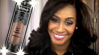 getlinkyoutube.com-Kat Von D Lock It Tattoo Foundation Review + Demo for Woman of Color