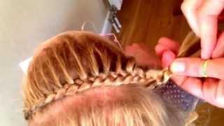 getlinkyoutube.com-Haarband Vlecht / Hair Band Braid
