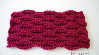 getlinkyoutube.com-How to Crochet: Crochet Textured Wave Stitch Tutorial