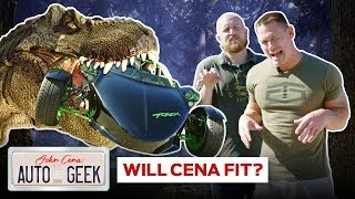 John Cena is confused by a T-Rex, is it a car or a toy? - John Cena: Auto Geek