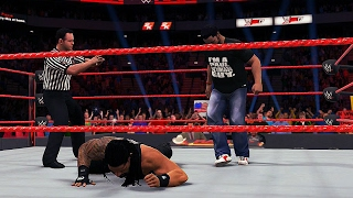 getlinkyoutube.com-WWE RAW: Roman Reigns got attacked by a Fan! With a shocking End