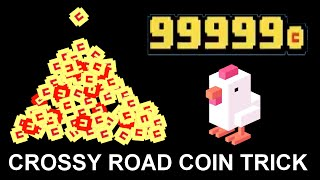 CROSSY ROAD CHEAT: THE COIN TRICK | How to get unlimited Coins (Android, iOS) | Ad Glitch - No Hack