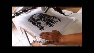 getlinkyoutube.com-Tutorial Cara Sablon Kaos Manual Dengan Pasta Rubber Sederhana