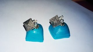 getlinkyoutube.com-4. Square Jhumka Tutorial
