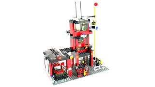 getlinkyoutube.com-Lego City 7240 Fire Station Speed Build And Review