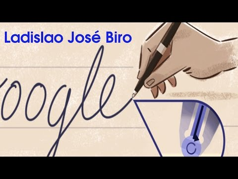 Ladislao José Biro Doodle. Google honours Ballpoint Pen Inventor Ladislao José Biro - YouTube
