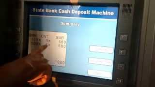 How to Deposit $Money without ATM/Debit Card in SBI Cash Deposit Machine - Cardless Deposit width=