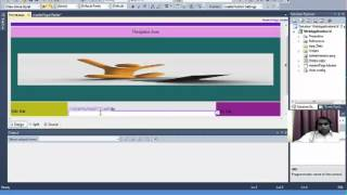 getlinkyoutube.com-Create Master Page and Navigation Bar, insert pages using visual studio-2010 (Design View)