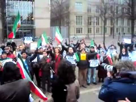 Protest against the hanging of Iranian-Dutch citizen Zahra Bahrami - Netherlands 1 Feb. 2011