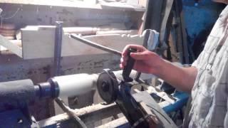 getlinkyoutube.com-Модернизация токарного станка по дереву. Болгарка + копир