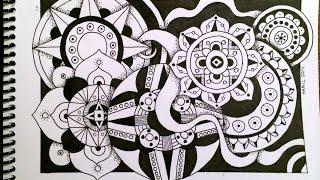 getlinkyoutube.com-Timelapse Drawing: Zentangle Circles