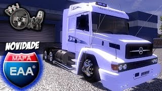 getlinkyoutube.com-Euro Truck Simulator 2 - Mapa EAA - Mercedes Benz 1938 - Carga de Sorvete - Com Logitech G27