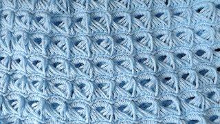getlinkyoutube.com-Crochet Colchita o Cobija Para Bebé