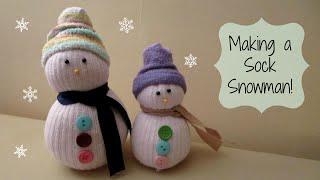 getlinkyoutube.com-MAKING A SOCK SNOWMAN! Cute Winter Craft | MayMommy2011
