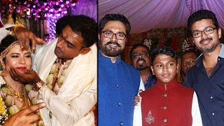 getlinkyoutube.com-Radhika daughter Rayane marries Abhimanyu Mithun | Vijay, Shankar, Vikram, Sarathkumar | Wedding