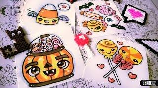 getlinkyoutube.com-Halloween Drawings - How To Draw Kawaii Candies by Garbi KW