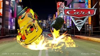 getlinkyoutube.com-Cars 2 [HD] #18 Gameplay with Hook, Mater, Lightning McQueen, Holley, Luigi, Guido, Piston Cup