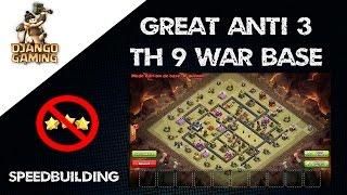 getlinkyoutube.com-Base de Guerre Hdv 9 un peu WTF... mais efficace !!! Clash of Clans