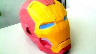 getlinkyoutube.com-Diy Pepakura ( papercraft ) IRON MAN mark 42 helmet time lapse