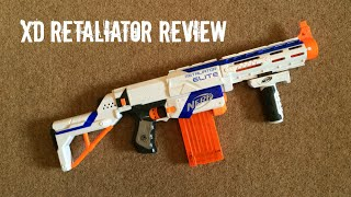 getlinkyoutube.com-Nerf N-Strike Elite XD Retaliator Unboxing & Range Test