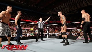 getlinkyoutube.com-John Cena & Dean Ambrose vs. Randy Orton & Kane: Raw, Sept. 29, 2014