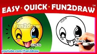 getlinkyoutube.com-How to Draw An Emoji Easy + Cute - Fun2draw