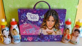 Disney Violetta Big School Bag Set & Surprise Eggs + Toys Unboxing Huevos Sorpresa