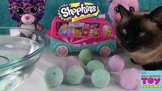getlinkyoutube.com-Surprise Bath Bombs Fizzies   LPS Shopkins Hidden Toys   PSToyReviews