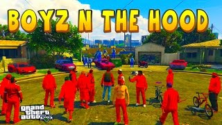 getlinkyoutube.com-GTA 5 ONLINE -  BOYZ N THE HOOD | BLOODS VS CRIPS