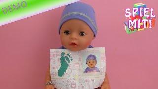 getlinkyoutube.com-Baby Born Interactive Deutsch – Baby Born Boy geht aufs Töpfchen macht in die Windel bekommt Namen