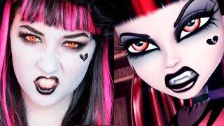 getlinkyoutube.com-MONSTER HIGH Gothic Draculaura MAKEUP TUTORIAL