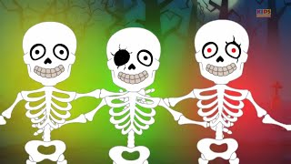 getlinkyoutube.com-five little skeletons | scary nursery rhymes for kids | halloween songs